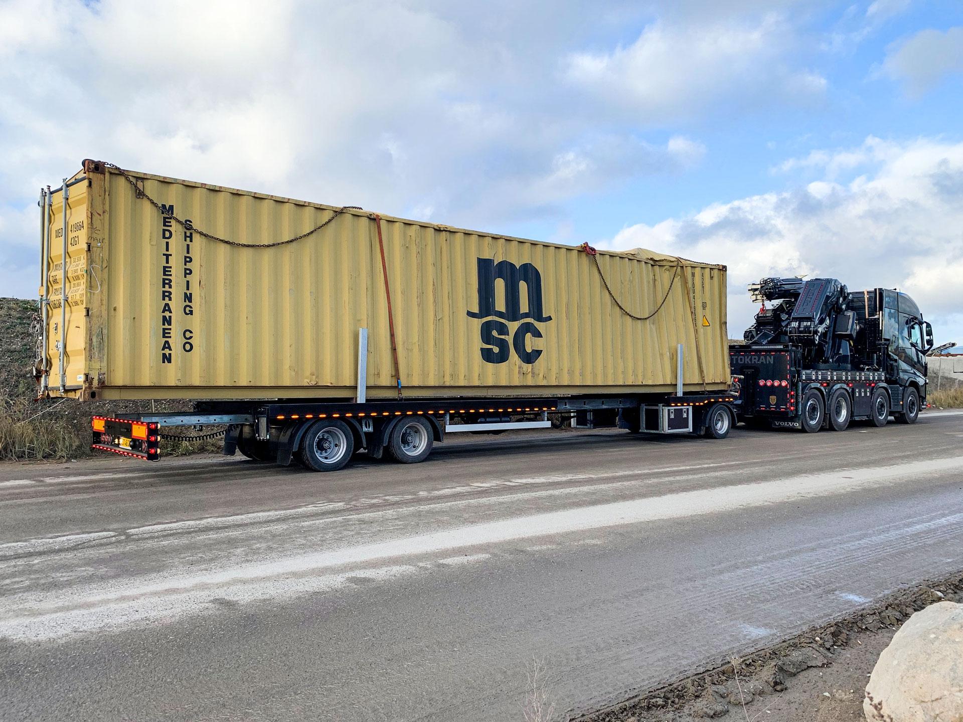 transport af container