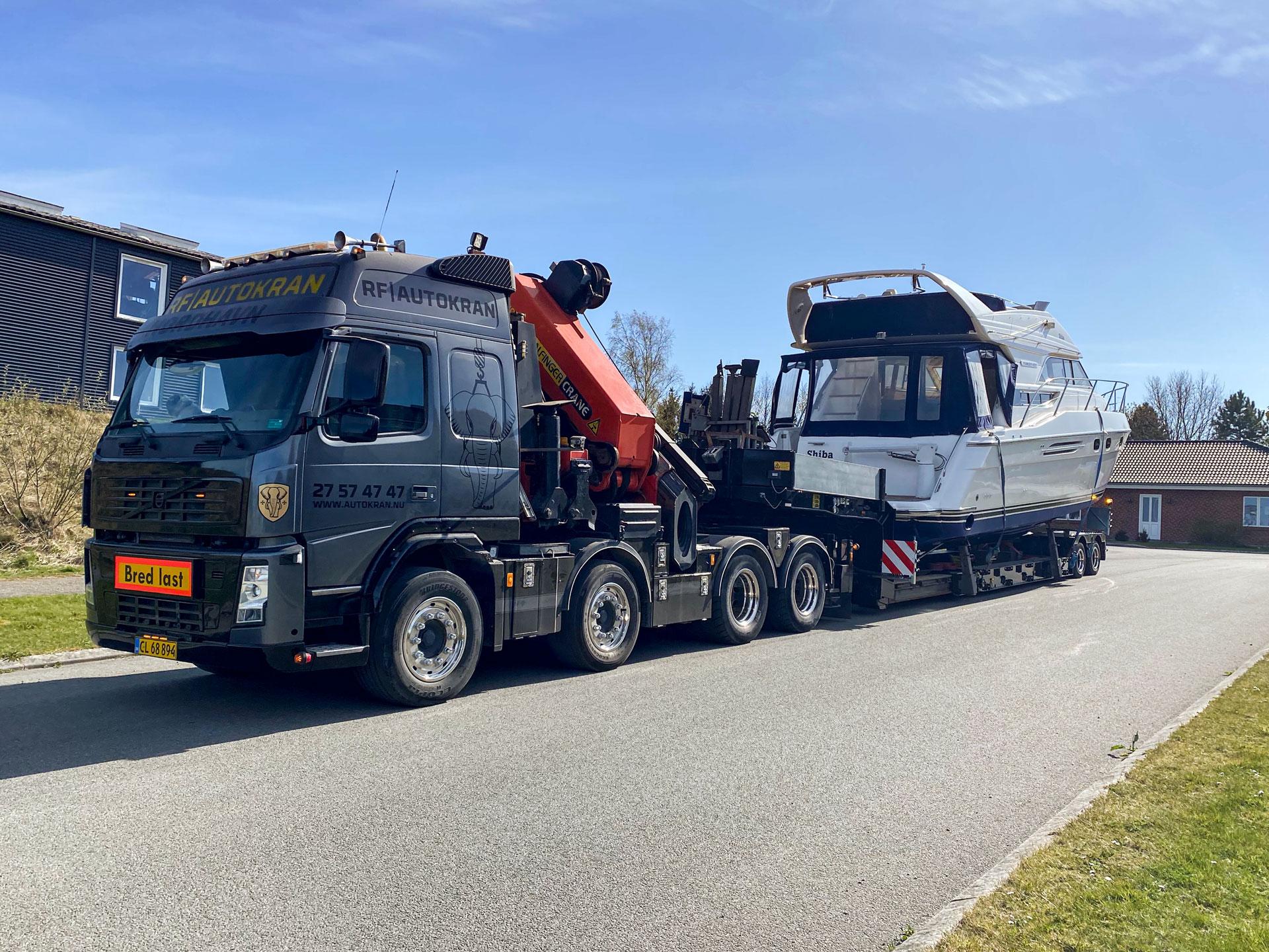 transport af motorbåd